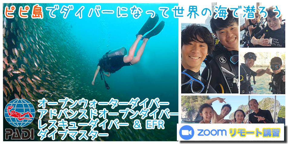 ピピ島ダイビングライセンス タイ ダイビングライセンス日本人インストラクター