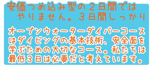 ピピ島ダイビングライセンスPADIオープンウォーターダイバーコース特徴3