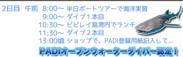 ピピ島ダイビングライセンス PADIオープンウォーターダイバーコース タイダイビングライセンス