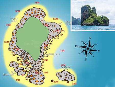 ピピ島ダイビング/ダイブサイト ビダ島